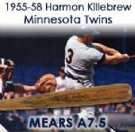 "1955-58 Harmon Killebrew Washington Senators Signed H&B Louisville Slugger Professional Model Game Used Bat (MEARS A7.5/JSA) ""Extremely Rare Rookie Era"""