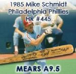 1985 Mike Schmidt Philadelphia Phillies Signed Rawlings Adirondack Professional Model Game Used Bat - Attributed To HR #445 (MEARS A9.5/JSA)