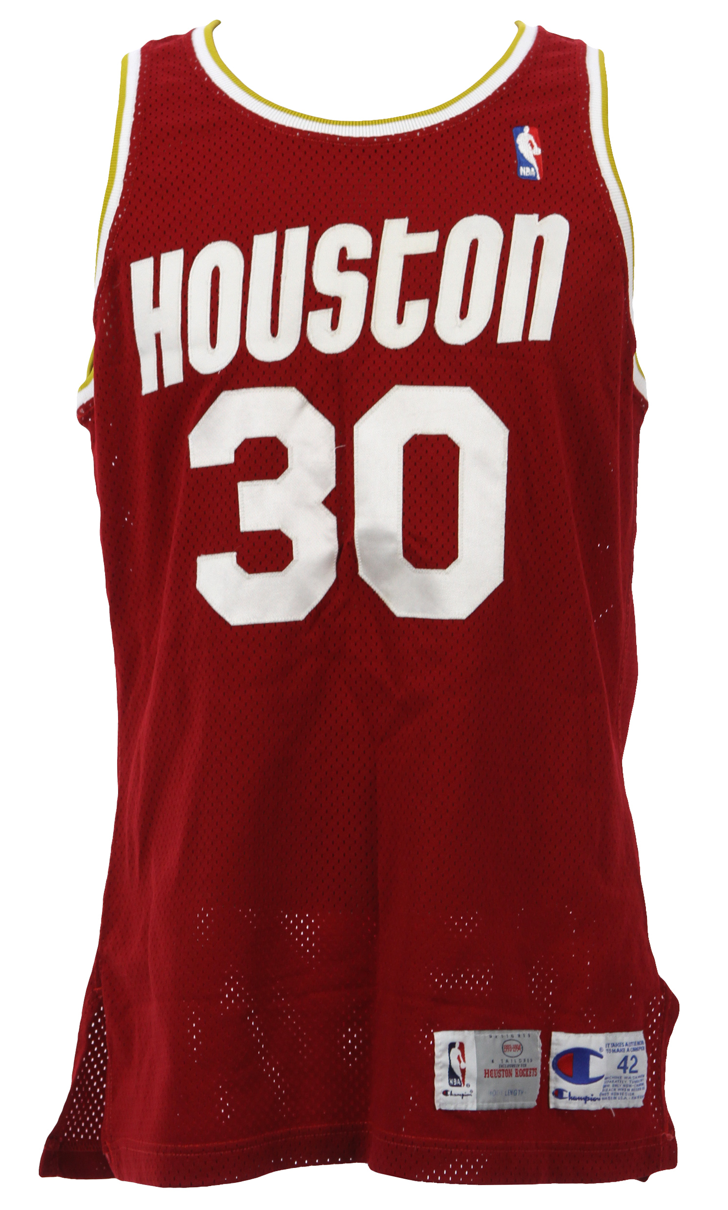 Lot Detail - 1993-94 Kenny Smith Houston Rockets Game Worn Road ...
