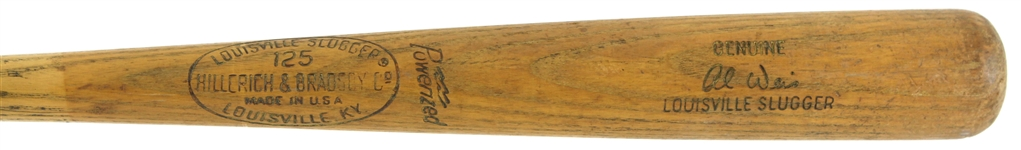 1965-68 Al Weis Chicago White Sox H&B Louisville Slugger Professional Model Game Used Bat (MEARS LOA)