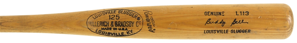 1973-75 Buddy Bell Cleveland Indians H&B Louisville Slugger Professional Model Game Used Bat (MEARS LOA)