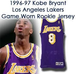 accd7d953098 1996-97 Kobe Bryant Los Angeles Lakers Game Worn   Autographed Road Jersey  (50th