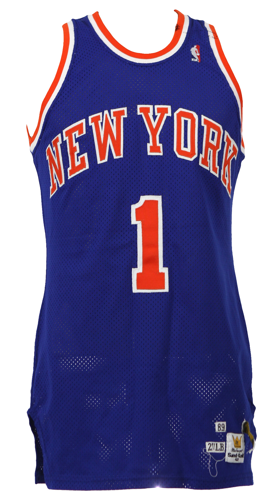 94bc19586a87 1989-90 Maurice Cheeks New York Knicks Game Worn Road Jersey (MEARS LOA).  Touch to zoom