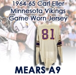 "1964-65 Carl Eller Minnesota Vikings Game Worn Road Jersey (MEARS A9) ""Gift From Bud Grant"""
