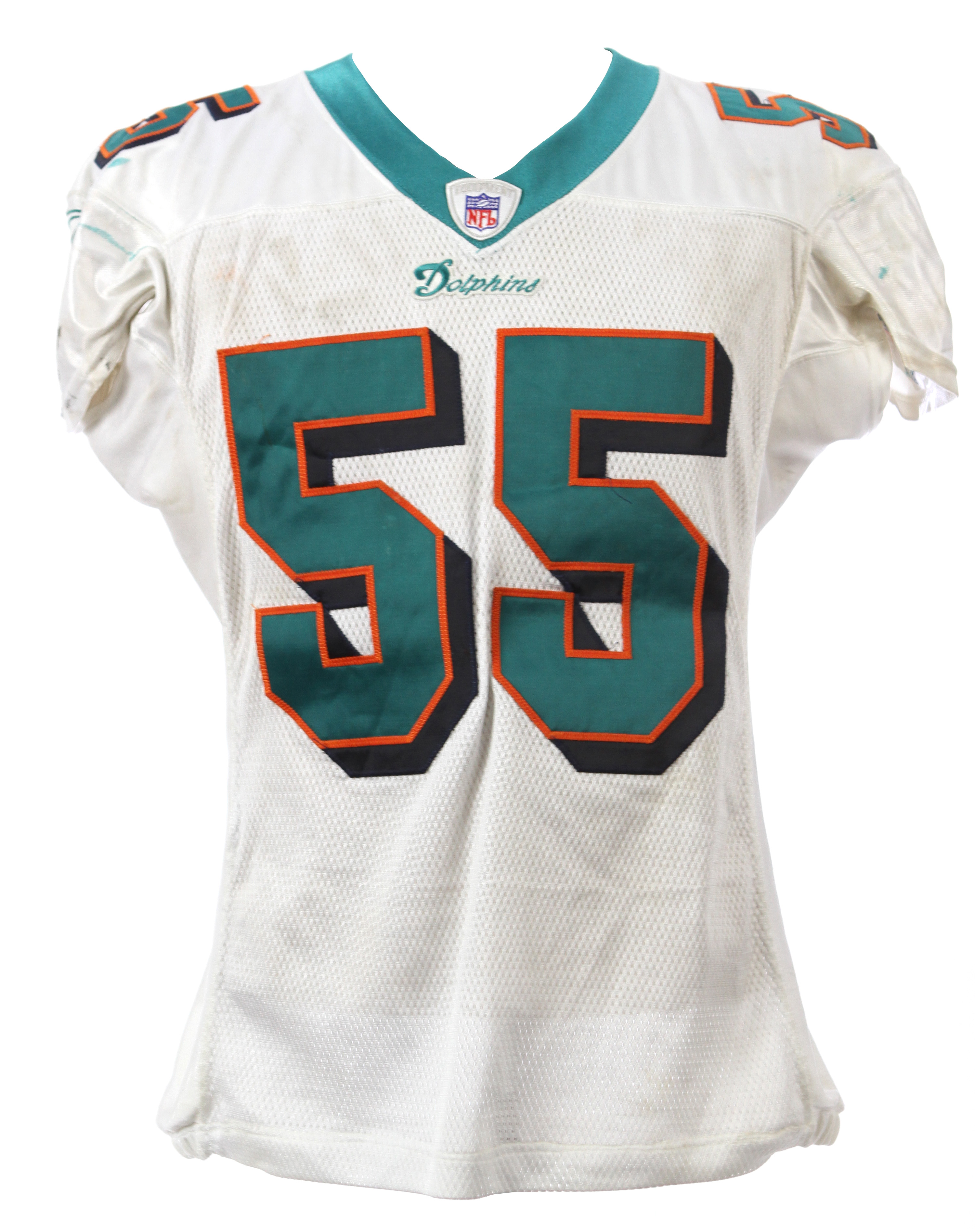 new concept bba9e f7bc9 Lot Detail - 2004 Junior Seau Miami Dolphins Game Worn Road ...
