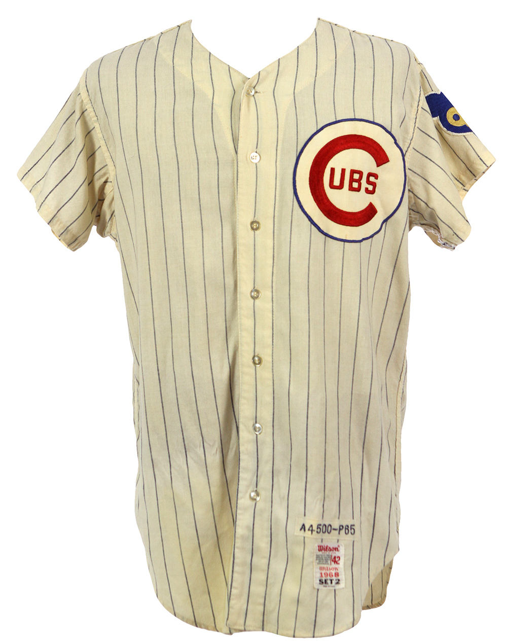 new style f6bd1 2a639 Lot Detail - 1968 Ernie Banks Chicago Cubs Salesman Sample ...