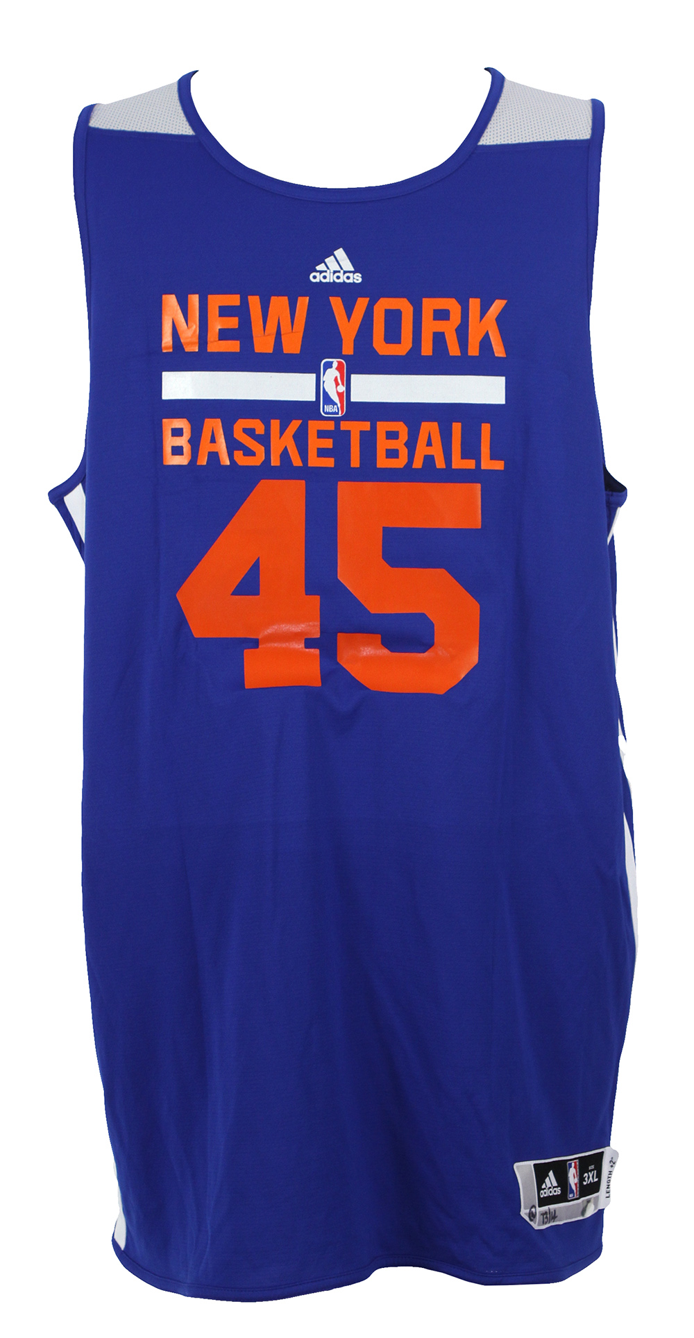 more photos 0efc5 f3ccf Lot Detail - 2013-14 Cole Aldrich New York Knicks Reversible ...