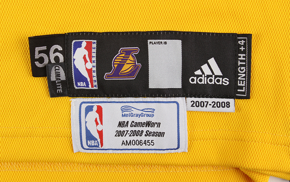 lot detail 2008 june 10 chris mihm los angeles lakers nba finals jersey mears loa meigray. Black Bedroom Furniture Sets. Home Design Ideas