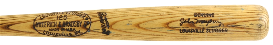 1973-75 John Mayberry Kansas City Royals H&B Louisville Slugger Professional Model Game Used Bat (MEARS LOA)