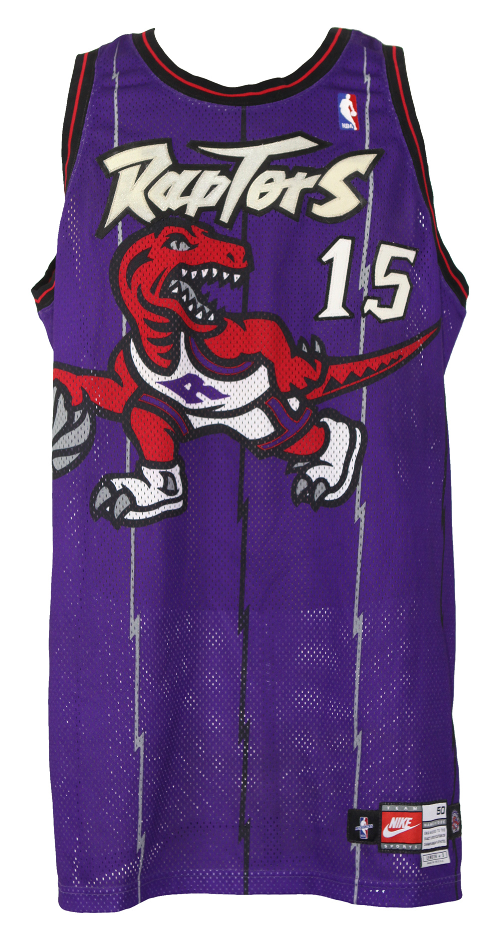 ... Vince Carter Toronto Raptors Game Worn Road Jersey (MEARS LOA) Rookie.  Touch to zoom 7cb18eb9d