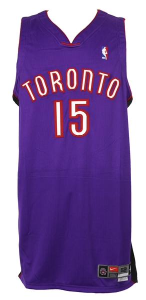 newest collection 1114d 6c4e4 Lot Detail - 2000-01 Vince Carter Toronto Raptors Game Worn ...