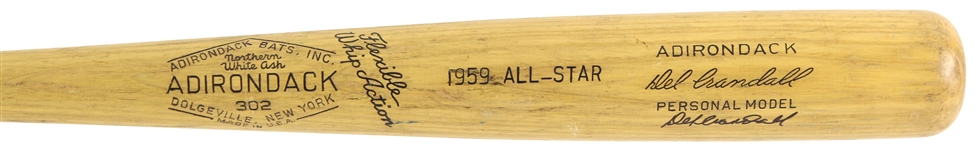 1959 Del Crandall Milwaukee Braves Signed Adirondack Professional Model All Star Game Bat (MEARS LOA/JSA)