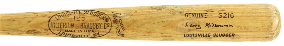 1977-79 Larry Milbourne Seattle Mariners H&B Louisville Slugger Professional Model Game Used Bat (MEARS LOA)