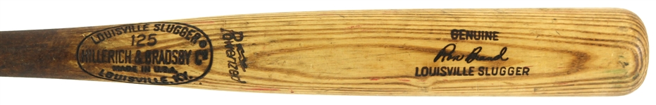 1969-71 Ron Brand Montreal Expos H&B Louisville Slugger Professional Model Game Used Bat (MEARS LOA)