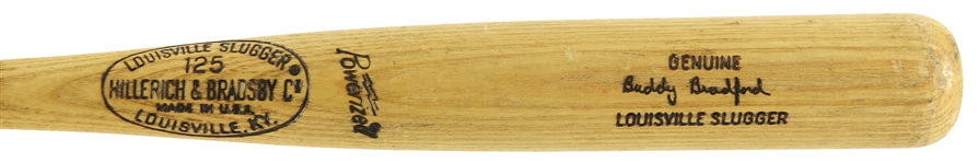 1973-75 Buddy Bradford Chicago White Sox H&B Louisville Slugger Professional Model Game Used Bat (MEARS LOA)