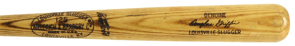 1973-75 Doug Griffin Boston Red Sox H&B Louisville Slugger Professional Model Game Used Bat (MEARS LOA)
