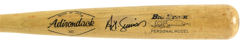 1971-79 Ted Simmons St. Louis Cardinals Signed Adirondack Professional Model Game Used Bat (MEARS LOA/JSA)