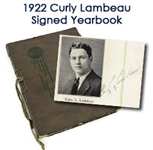1922 Autographed Curly Lambeau Green Bay East Aeroplane High School Yearbook –Earliest Known Packers Era Signature! (JSA)