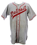 1949 Howard Pernell Detroit Stars Game Worn Road Uniform (Shirt,pants,stirrups) - ( MEARS A9.5 / Detroit Stars Original Invoice)