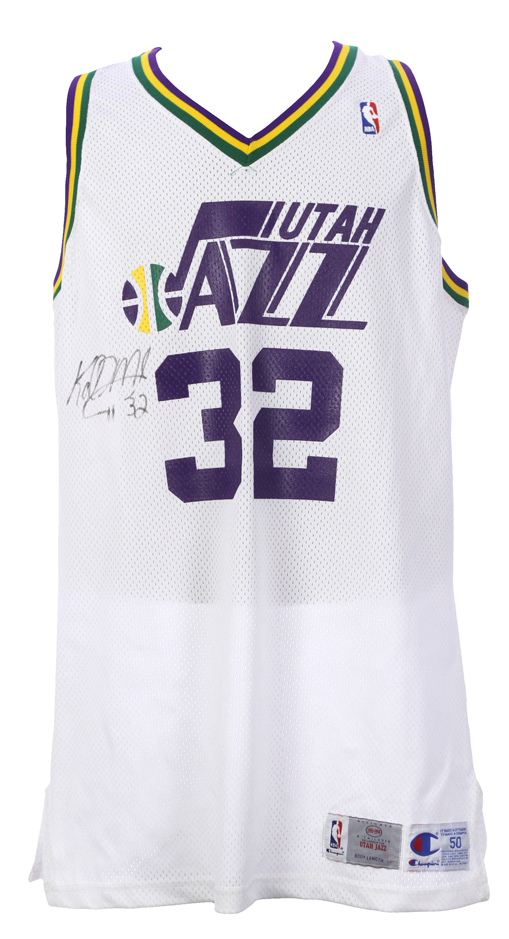 2eceda9b5 1993-94 Karl Malone Utah Jazz Signed Road Jersey (MEARS LOA  Full. Touch to  zoom