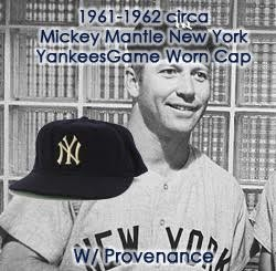 531827f2307 1961-1962 Mickey Mantle New York Yankees Game Worn Cap (MEARS LOA   Letter