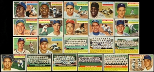 1956 Topps Baseball Trading Cards Partial Set (168/340)