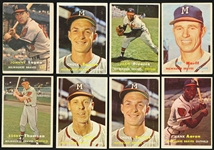1957 Topps Baseball Trading Cards - Lot of 53 Cards