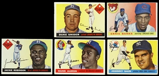 1955 Topps Baseball Trading Cards Partial Set - Lot of 223 Cards