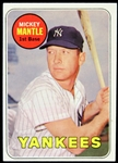 1969 Mickey Mantle New York Yankees Topps #500 Baseball Trading Card