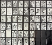 1969 Topps Deckle Edge Baseball Trading Cards Complete Set (35/35) w/ Both #11 & #22 Variations - Lot of 46 Cards w/ Doubles