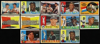 1960 Topps Baseball Trading Cards - Lot of 228 Cards