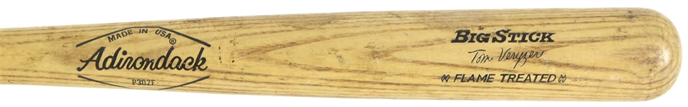 1973-77 Tom Veryzer Detroit Tigers Adirondack Professional Model Game Used Bat (MEARS LOA)