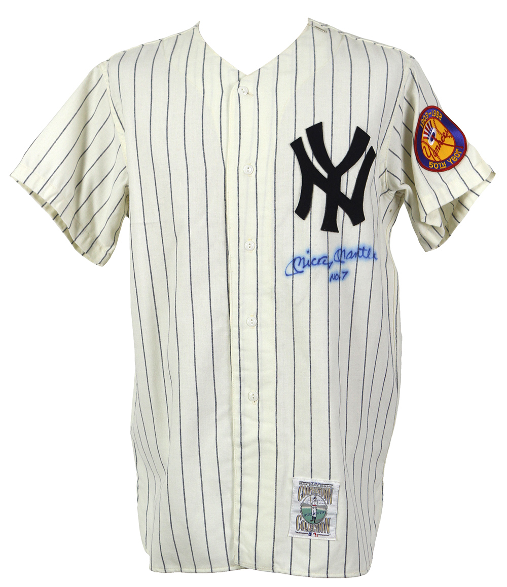 differently db547 4144b Lot Detail - 1990's Mickey Mantle New York Yankees Signed ...