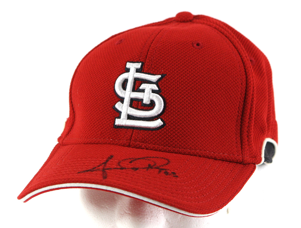 lot detail 2008 anthony reyes st louis cardinals signed batting practice cap mears loa jsa. Black Bedroom Furniture Sets. Home Design Ideas
