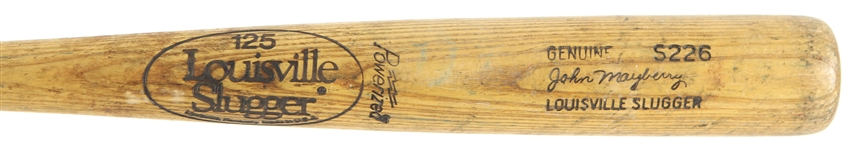 1980-82 John Mayberry Blue Jays/Yankees Louisville Slugger Professional Model Game Used Bat (MEARS LOA)