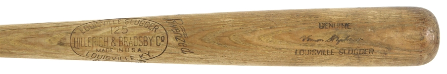 1960 Vern Stephens Post Career H&B Louisville Slugger Professional Model Game Used Bat (MEARS LOA)