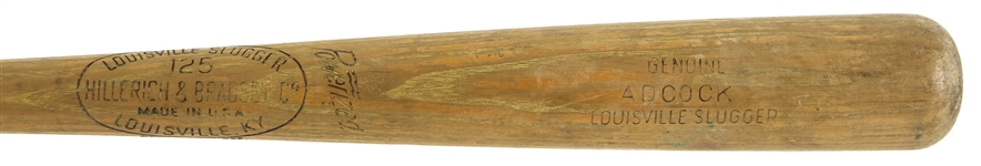 1950-60 Joe Adcock Reds/Braves H&B Louisville Slugger Professional Model Team Index Bat (MEARS LOA)