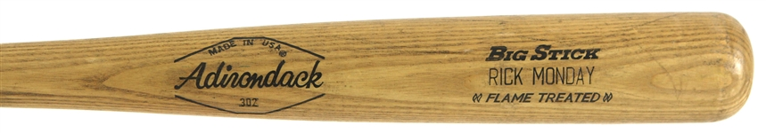 1972-79 Rick Monday Cubs/Dodgers Adirondack Professional Model Game Used Bat (MEARS LOA)