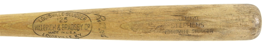 1952-60 Gene Stephens Boston Red Sox H&B Louisville Slugger Professional Model Game Used Bat (MEARS LOA)