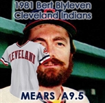 1981 Bert Blyleven Cleveland Indians Game Worn Road Jersey (MEARS A9.5)