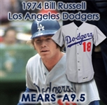 1974 Bill Russell Los Angeles Dodgers Game Worn Road Jersey (MEARS A9.5)
