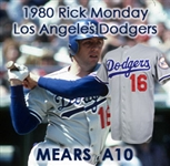 1980 Rick Monday Los Angeles Dodgers Game Worn Road Jersey (MEARS A10)