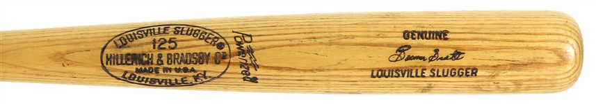 "1973-75 George ""Boomer"" Scott Milwaukee Brewers H&B Louisville Slugger Professional Model Game Used Bat (MEARS LOA)"
