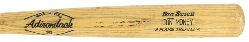 1973-79 Don Money Milwaukee Brewers Adirondack Professional Model Game Used Bat (MEARS LOA)