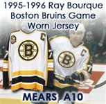 1995-96 Ray Bourque Boston Bruins Game Worn Home Jersey (MEARS A10)