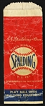 "1940s-50s Spalding ""Play Ball With Spalding Equipment"" Paper Product Bag"