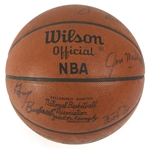 1975-76 Milwaukee Bucks Team Signed ONBA Kennedy Basketball w/ 12 Signatures Including Brian Winters, Jon McGlocklin, Bob Dandridge, Junior Bridgeman & More (JSA)