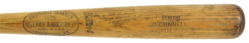 "1961-62 Danny OConnell Washington Senators H&B Louisville Slugger Professional Model Game Used Bat (MEARS LOA) ""Member of the 1957 Braves"""