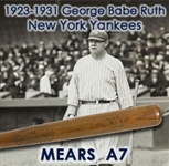 1923-31 Babe Ruth New York Yankees H&B Louisville Slugger Professonal Model Bat (MEARS A7)