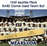 1969 Seattle Pilots H&B Louisville Slugger Professional Model Team Bat (MEARS LOA)